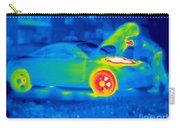 A Thermogram Of A Man Working On A Car Carry-all Pouch