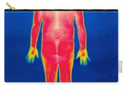 A Thermogram Of A Nude Man Back Carry-all Pouch
