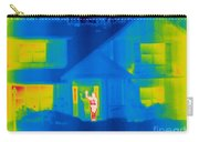 A Thermogram Of A Person Waving In House Carry-all Pouch