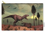 A Triceratops Falls Victim Carry-all Pouch