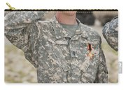 A U.s Army Soldier And Recipient Carry-all Pouch