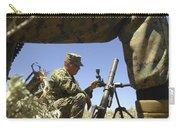 A U.s. Marine Mortarman Trains On An Carry-all Pouch