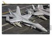 A Us Navy Fa-18c Hornet Parked Carry-all Pouch