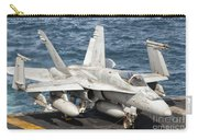 A Us Navy Fa-18c Hornet Tied Carry-all Pouch by Giovanni Colla