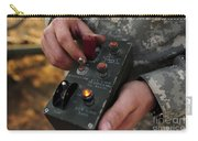 A U.s. Soldier Hits The Button Carry-all Pouch by Stocktrek Images