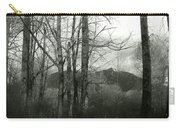 A View Through The Trees Bw Carry-all Pouch