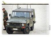 A Vw Iltis Jeep Of A Unit Of Belgian Carry-all Pouch by Luc De Jaeger