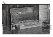 A Weathered Bench Black And White Carry-all Pouch