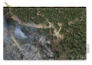 A Wildfire Burns Land Near Austin Carry-all Pouch