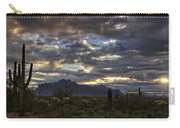 A Winter Sunrise In The Desert  Carry-all Pouch