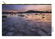 A Winter Sunset At Evenskjer In Troms Carry-all Pouch by Arild Heitmann