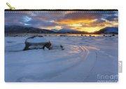 A Winter Sunset Over Tjeldsundet Carry-all Pouch by Arild Heitmann