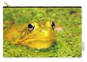 A Yellow Bullfrog Carry-all Pouch