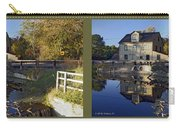 Abbotts Pond - Gently Cross Your Eyes And Focus On The Middle Image Carry-all Pouch