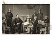 Abraham Lincoln At The First Reading Of The Emancipation Proclamation - July 22 1862 Carry-all Pouch