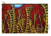 Abstract Art Contemporary Coastal Cityscape 3 Of 3 Capturing The Heart Of The City IIi By Madart Carry-all Pouch
