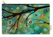 Abstract Art Original Landscape Painting Colorful Circles Morning Blues II By Madart Carry-all Pouch