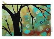 Abstract Art Original Landscape Painting Colorful Circles Morning Blues IIi By Madart Carry-all Pouch