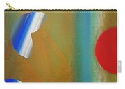 Abstract Blue With Red Sun Carry-all Pouch