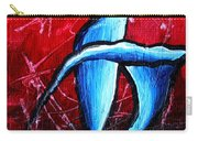 Abstract Calla Lilly Textured Painting Greeting Lillies By Madart Carry-all Pouch by Megan Duncanson