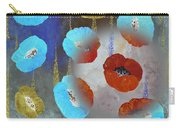 Abstract Colorful Poppies Carry-all Pouch