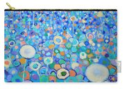 Abstract Flowers Field Carry-all Pouch