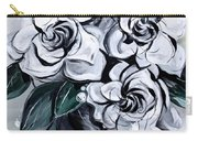 Abstract Gardenias Carry-all Pouch