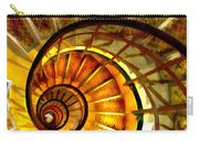 Abstract Golden Nautilus Spiral Staircase Carry-all Pouch