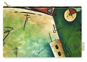 Abstract Martini Cityscape Contemporary Original Painting Martini Hour By Madart Carry-all Pouch