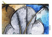 Abstract Martini Tropical Contemporary Original Painting Martini On The Beach By Madart Carry-all Pouch