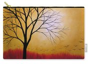 Abstract Original Tree Painting Summers Anticipation By Amy Giacomelli Carry-all Pouch