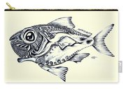 Abstract Redfish Carry-all Pouch