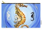 Abstract Sea Horse Carry-all Pouch