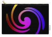 Abstract Spiral Color Carry-all Pouch