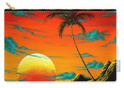 Abstract Surreal Tropical Coastal Art Original Painting Tropical Burn By Madart Carry-all Pouch