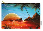 Abstract Surreal Tropical Coastal Art Original Painting Tropical Fusion By Madart Carry-all Pouch