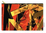 Abstract Tan 2 Carry-all Pouch