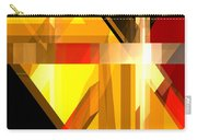 Abstract Tan 5 Carry-all Pouch