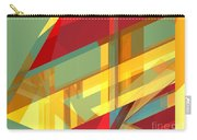 Abstract Tan 9 Carry-all Pouch