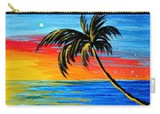 Abstract Tropical Palm Tree Painting Tropical Goodbye By Madart Carry-all Pouch
