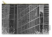 Abstract Walls Black And White Carry-all Pouch