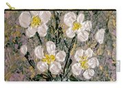 Abstract Wild Roses Heavy Impasto Carry-all Pouch