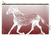 Abstract Wild Running Horse  Carry-all Pouch