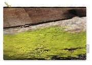 Abstract With Green Carry-all Pouch