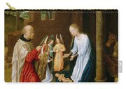 Adoration Of The Christ Child  Carry-all Pouch