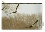 Adult And Immature Bald Eagle Flying Carry-all Pouch