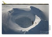 Aerial View Of Frozen Lake In Summit Carry-all Pouch by Richard Roscoe
