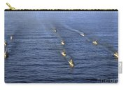 Aerial View Of Ships In Formation Carry-all Pouch