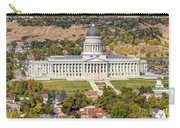 Aerial View Of Utah State Capitol Building Carry-all Pouch by Gary Whitton