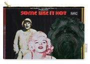 Affenpinscher Some Like It Hot Movie Poster Carry-all Pouch